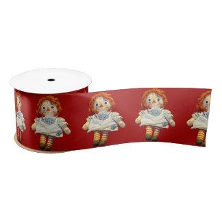Puppe Satinband