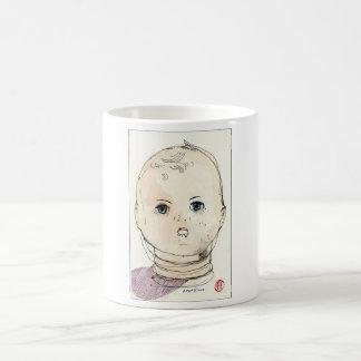 Puppen-Kopf Kaffeetasse