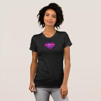 Purlpink ist Bergwerk-Herz T-Shirt