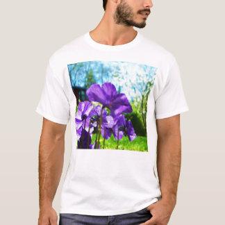 purp Blumen T-Shirt