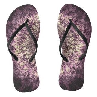 Purple Mandala Flip Flops