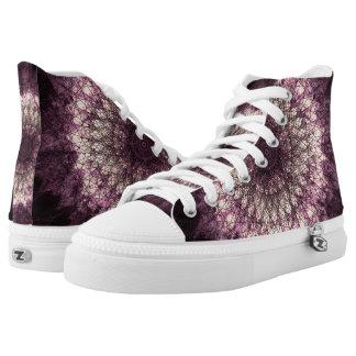 Purple Mandala Hoch-geschnittene Sneaker