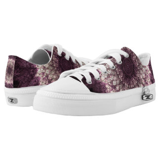 Purple Mandala Niedrig-geschnittene Sneaker