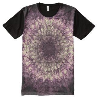 Purple Mandala T-Shirt Mit Komplett Bedruckbarer Vorderseite