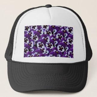 Purple_Pansies_Bouquet, _ Truckerkappe