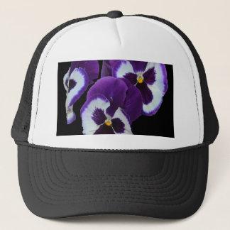 Purple_Pansy_Posy, _ Truckerkappe