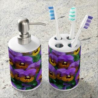 Purpley Pansy - Zahnbürste-u. Seifen-Zufuhr-Set Badset