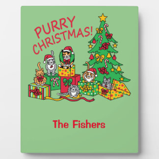 Purry Weihnachten! Fotoplatte