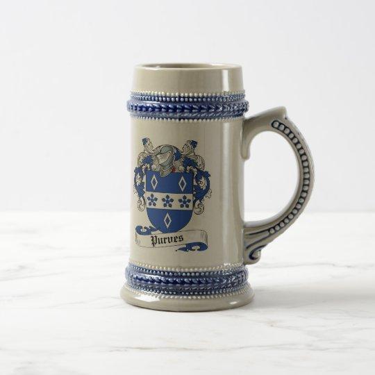 Purves Wappen Stein - Familienwappen Bierglas