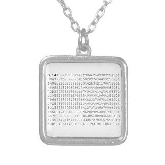 PUs feiern 3,14 PU-Tag Halskette Mit Quadratischem Anhänger