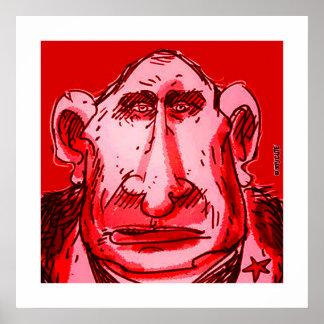 Putin-Karikaturrottönung Poster