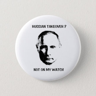 Putin - nicht auf meinem Uhrknopf Runder Button 5,1 Cm