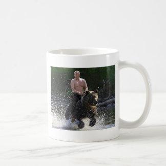 Putin reitet einen Bären! Kaffeetasse