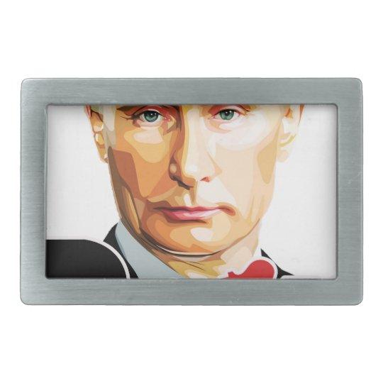 Putin - Russland Rechteckige Gürtelschnallen