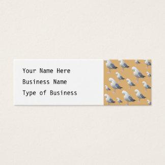 Putzendes Möven-Muster, skizzierte Art auf TAN Mini Visitenkarte