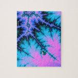 Puzzle bleu de coccinelle de fractale