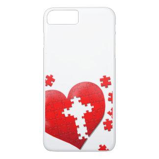 Puzzle des christlichen Liebeherzens iPhone 7 Plus Hülle