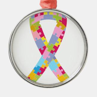 Puzzlespiel bessert Band aus Rundes Silberfarbenes Ornament