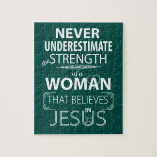 Puzzlespiel-christliche Frauen glaubt an