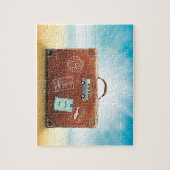 Puzzlespiel des Foto-8x10 mit Geschenkboxen-Reise