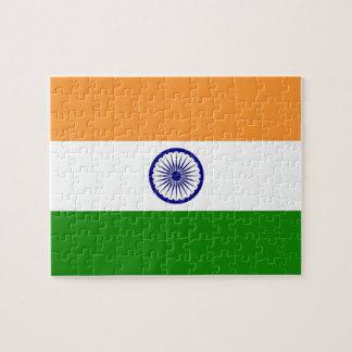 Puzzlespiel mit Flagge von Indien