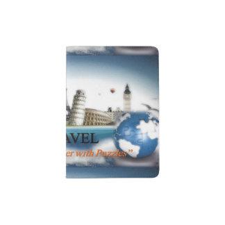 Puzzlespiel-Reise-Pass-Halter Passhülle