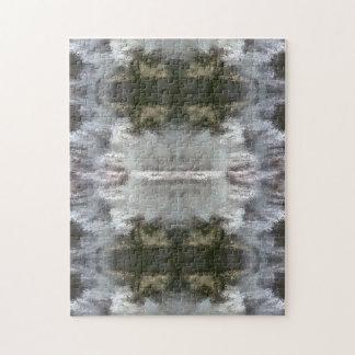 Puzzlespiele mit mattiertem abstraktem Entwurf