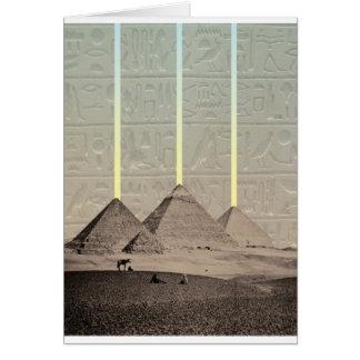 Pyramide-Hieroglyphen-Scheinwerfer Karte