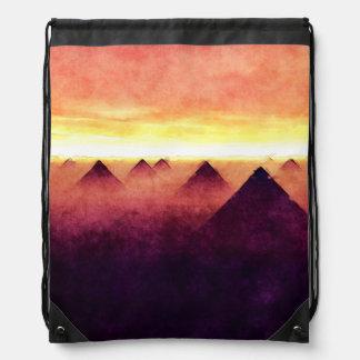 Pyramiden am Sonnenaufgang Turnbeutel