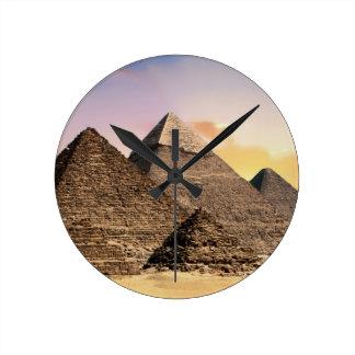 Pyramiden Runde Wanduhr