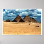 Pyramiden von Gizeh Poster