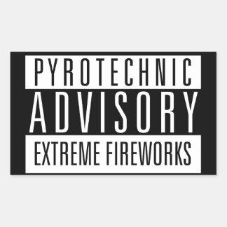 Pyrotechnic Advisory – Extreme Fireworks Rechteckiger Aufkleber