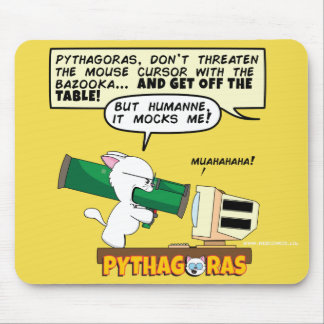 PythagorasBazooka Mousepad