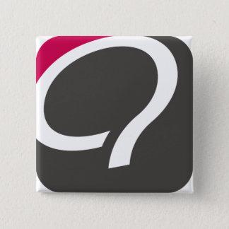 Q-Knopf - Himbeere Quadratischer Button 5,1 Cm