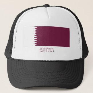 Qatar-Flagge mit Namen Truckerkappe
