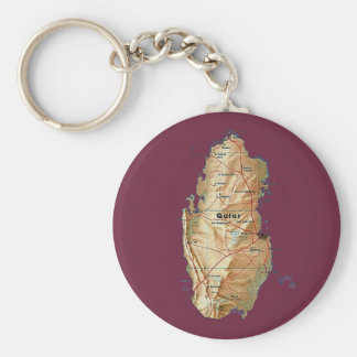 Qatar-Karte Keychain Schlüsselanhänger