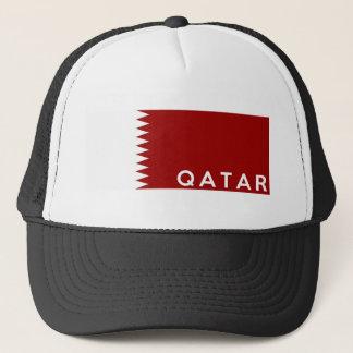 Qatar-Landesflaggetextname Truckerkappe