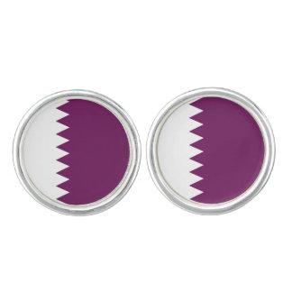 Qatari Flaggen-runde Manschettenknöpfe, Manschetten Knöpfe
