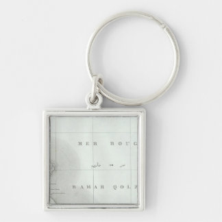 Qosier, Ägypten Silberfarbener Quadratischer Schlüsselanhänger