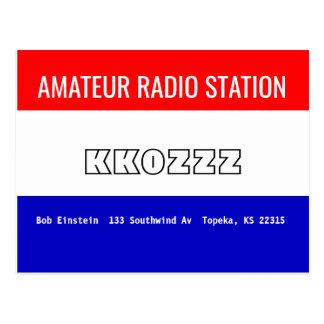 QSL Karten-Amateur-Radiosender Postkarte