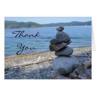 Quadra Insel-Felsen-Steinhaufen danken Ihnen zu Grußkarte