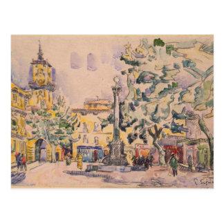 Quadrat des Hotels de Ville in Aix-en-Provence Postkarte