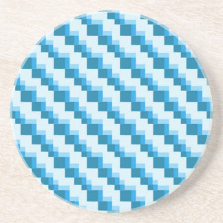 Quadrat-Muster Sandstein Untersetzer