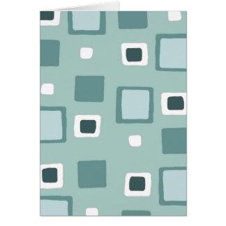 Quadrate/Entwurf 1-Blue/Green Karte