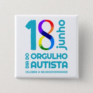 Quadrater Bóton Autistischer Stolz Quadratischer Button 5,1 Cm