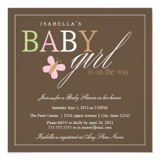 Quadratische Babyparty des Baby-  laden ein Quadratische 13,3 Cm Einladungskarte