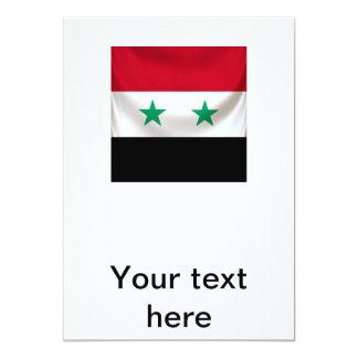 Quadratische Flagge von Syrien, Zeremoniell 12,7 X 17,8 Cm Einladungskarte