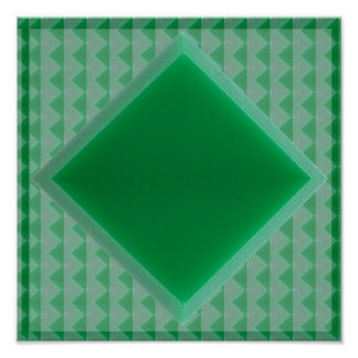 Quadratische grüner ONYX schnitzende arabische Poster