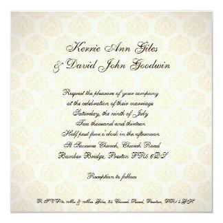 Quadratische Hochzeits-Einladungs-Vintages Orange Quadratische 13,3 Cm Einladungskarte