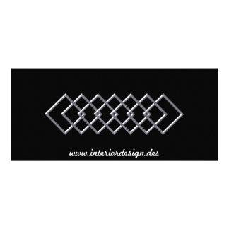 Quadratische Kettengeschäfts-Gestell-Karte 12,2 X 22,9 Cm Kartendruck